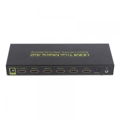 HDMI Matrix HDMI Switch Splitter with Remote support 4K/3D/Audio EDID/ARC/Audio Extractor and SPDIF 3.5mm Audio Output