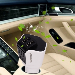 3 in 1 Car Air Purifier Charger,with Dual Car Quick Charger & Emergency Safety Hammer
