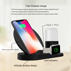 Wireless Charger, Compatible iph one Charger, 3-in-1 Replacement Charging Station for iph one Xs/X Max/XR/X/8/8Plus/Watch