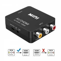 1080P Mini RCA Composite CVBS AV to HDMI Video Audio Converter