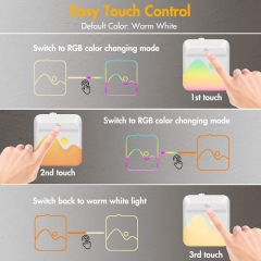 LED socket night light 7 color change with twilight sensor
