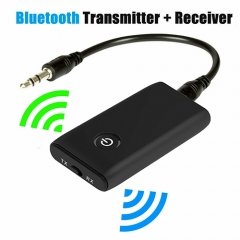 bluetooth 5.0 transmitter receiver, 2-in-1 Wireless 3.5mm Adapter