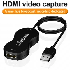Audio Video Capture Cards HDMI to USB 1080p USB2.0 Record via DSLR Camcorder Action Cam for High Definition Acquisition, Live Broadcasting